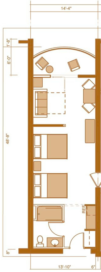 Junior Suite floor plan at Chula Vista Resort in the Wisconsin Dells